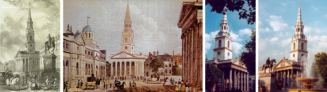 St. Martin-in-the-Fields, London 1838, 1850 and Today