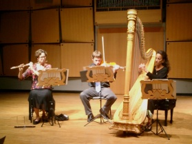 The Debussy Trio - Angela Wiegand, David Walther, Marcia Dickstein (photo by Ray Korns)