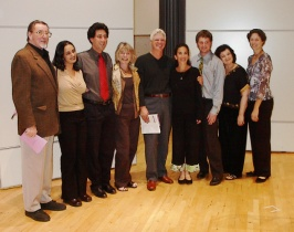 Duane Tatro, Reena Esmail, David Lefkowitz, Adrienne Albert, Ian Krouse, Marcia Dickstein, David Walther, Carol Worthey, Angela Wiegand (photo by Ray Korns)