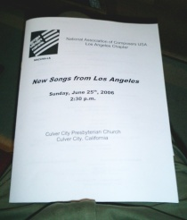 NACUSA Concert - Program Cover
