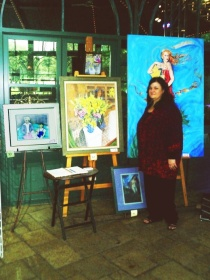 Carol Worthey at Art Exhibit