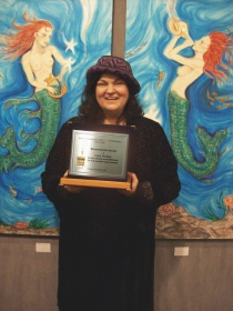 Carol Worthey with Biennale Award