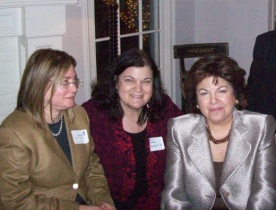 Marcia Gordon, Pres. Barnard Club / Carol Worthey / Pres. Judith Shapiro, Barnard College