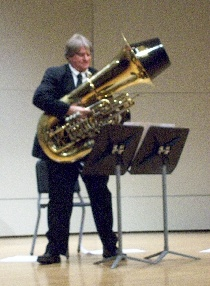 John Van Houten with 'C' Tuba and Mute