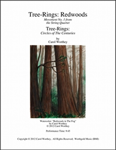 Worthey: 'Tree Rings - Redwoods' Score Cover