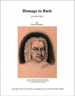Homage to Bach - Score Cover