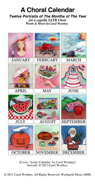 A Choral Calendar, Twelve Portraits of The Months