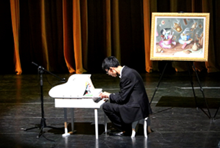 Alice Concert Shenzhen - Stanley Wong at toy piano