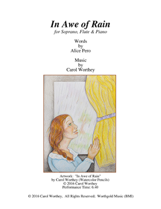 Score Title Page 'In Awe of Rain'