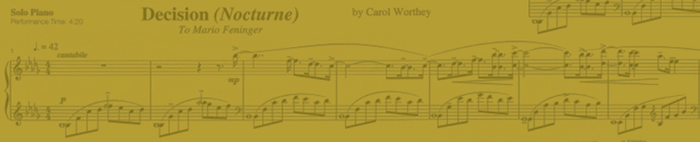 Carol Worthey, composer